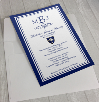 Brevard College graduation announcements, 2012.